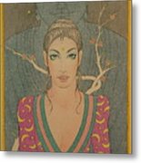 Mystical Smile Metal Print