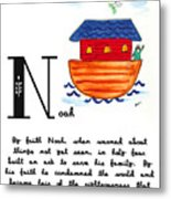 N Is For Noah Metal Print