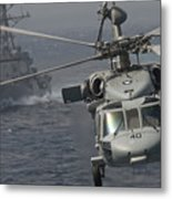 N Mh-60s Knight Hawk Delivers Supplies Metal Print