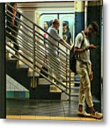 N Y C Subway Scene # 9 Metal Print