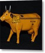 N Y C  Taxi Cow Metal Print