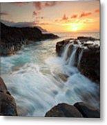 Na Pali Sunset Metal Print by Mike  Dawson