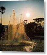 Nagasaki Peace Park Fountain Metal Print
