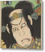 Nakamura Utaemon IIi In De Rol Van Gotobei Moritsugu, Kunisada I, Utagawa, 1863 Metal Print