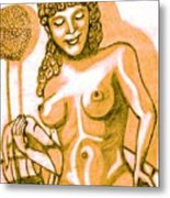 Naked Goddess Metal Print