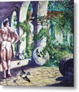 Naked In The Cloisters Metal Print