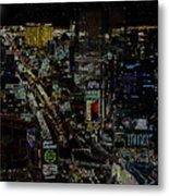 Naked Moon Over The Strip Metal Print