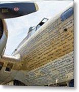 Names Pilots B-17 Metal Print