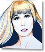 Nancy No Nose Metal Print