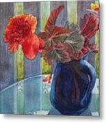Nancy's Begonias Metal Print
