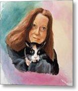 Nandi And Her Cat Metal Print