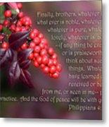 Nandina Berries Phil.4 V 8-9 Metal Print