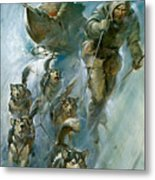 Nansen Conqueror Of The Arctic Ice Metal Print by James Edwin McConnell