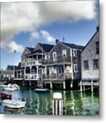 Nantucket Harbor In Summer Metal Print