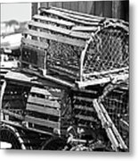 Nantucket Lobster Traps Metal Print