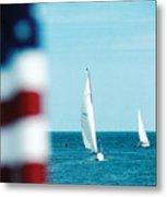 Nantucket Sailing Metal Print