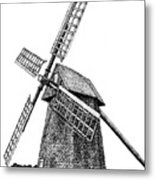 Nantucket Windmill Number One Metal Print