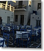 Naoussa Village Paros Greece Metal Print
