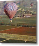 Napa Balloon Morning Ride Metal Print