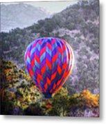 Napa Valley Morning Balloon Metal Print