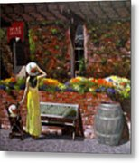 Napa Wine Cellar In Spring Metal Print