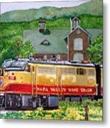 Napa Wine Train Metal Print