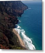 Napali Cliffs Metal Print