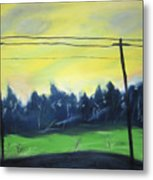 Napeague Road Metal Print