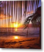 Napili Bay Sunset Maui Hawaii Metal Print