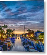 Naples Canal Christmas 6 Metal Print