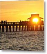 Naples Florida Sunset Pier Metal Print