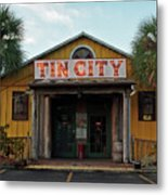 Naples Tin City - Open For Business Metal Print