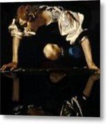 Narcissus Metal Print by Caravaggio