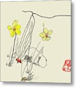 Narcissus  With Cricket Metal Print