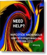 Narcotics Anonymous Poster Metal Print