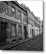 narrow cobbled old orchard street Bath England UK Metal Print