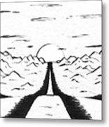 Narrow Gate Metal Print