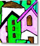 Narrow Village Metal Print
