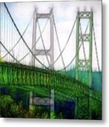 Narrows Bridge Abstract Metal Print