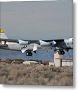 Nasa Boeing Nb-52b Stratofortress With Hyper X Metal Print by Brian Lockett