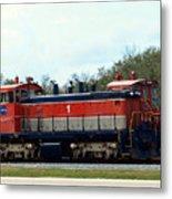 Nasa Space Shuttle Railroad Metal Print