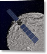 Nasas Dawn Spacecraft Orbiting Metal Print