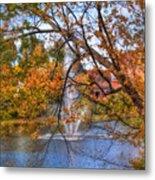 Nashua River Water Fountain - Nashua Nh Metal Print