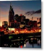 Nashville At Sunset Metal Print