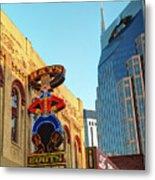 Nashville Boots Neon Sign Metal Print
