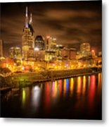 Nashville City Lights Metal Print