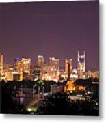 Nashville Cityscape 3 Metal Print