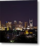 Nashville Cityscape 4 Metal Print