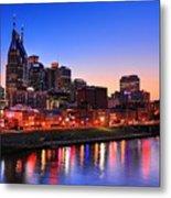 Nashville Southern Nights Metal Print