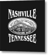 Nashville Tennessee Design Metal Print
